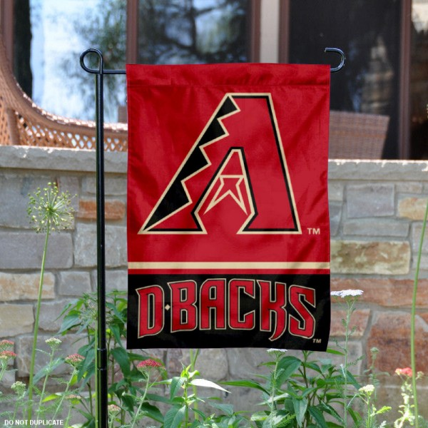Arizona Diamondbacks Garden Flag is 12.5x18 inches in size, is made of 2-ply polyester, and has two sided screen printed logos and lettering. Available with Express Next Day Shipping, our Arizona Diamondbacks Garden Flag is MLB Genuine Merchandise and is double sided.