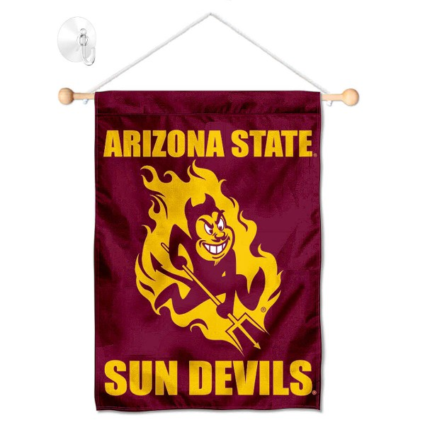 Arizona State Sun Devils Banner with Suction Cup