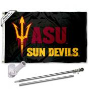 Arizona State Sun Devils Black Flag Pole and Bracket Kit