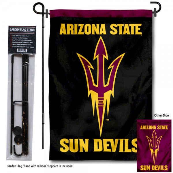 Arizona State Sun Devils Dual Logo Garden Flag and Pole Stand