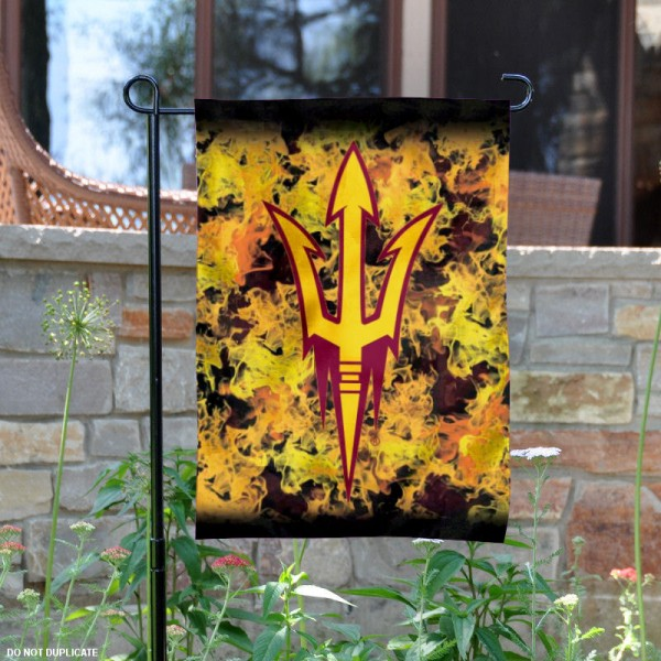 Arizona State Sun Devils Logo Garden Flag is 13x18 inches in size, is made of 2-layer polyester, screen printed Arizona State Sun Devils athletic logos and lettering. Available with Same Day Express Shipping, Our Arizona State Sun Devils Logo Garden Flag is officially licensed and approved by Arizona State Sun Devils and the NCAA.
