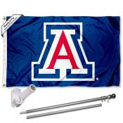 Arizona Wildcats Blue Flag Pole and Bracket Kit