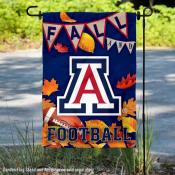 Arizona Wildcats Fall Football Autumn Leaves Decorative Garden Flag