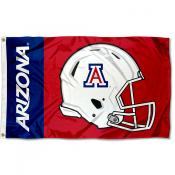 Arizona Wildcats Football Helmet Flag