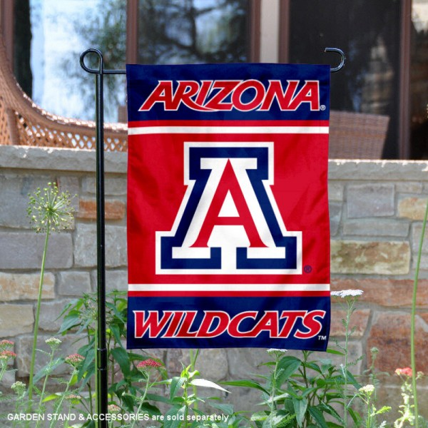 Arizona Wildcats Garden Flag is 13x18 inches in size, is made of 2-layer polyester, screen printed logos and lettering. Available with Same Day Express Shipping, Our Arizona Wildcats Garden Flag is officially licensed and approved by the NCAA.