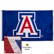 Arizona Wildcats Nylon Embroidered Flag