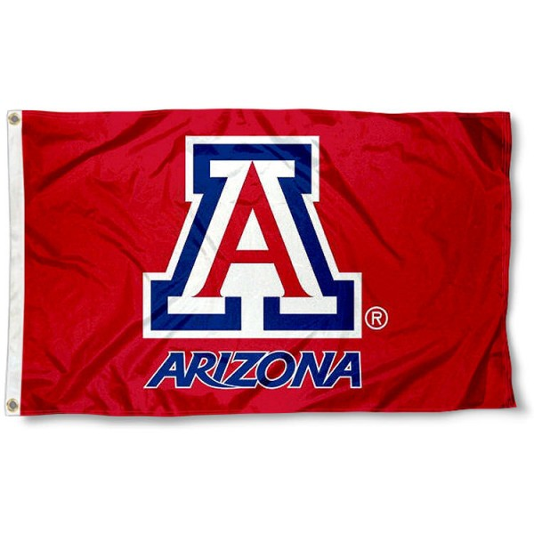 Arizona Wildcats Red Flag measures 3'x5', is made of 100% poly, has quadruple stitched sewing, two metal grommets, and has double sided U of A Wildcats logos. Our Arizona Wildcats Red Flag is officially licensed by the selected university and the NCAA.