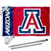 Arizona Wildcats Red Flag Pole and Bracket Kit