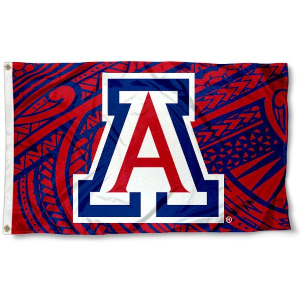 Arizona Wildcats Samoan Flag measures 3x5 feet, is made of 100% polyester, offers quadruple stitched flyends, has two metal grommets, and offers screen printed NCAA team logos and insignias. Our Arizona Wildcats Samoan Flag is officially licensed by the selected university and NCAA.