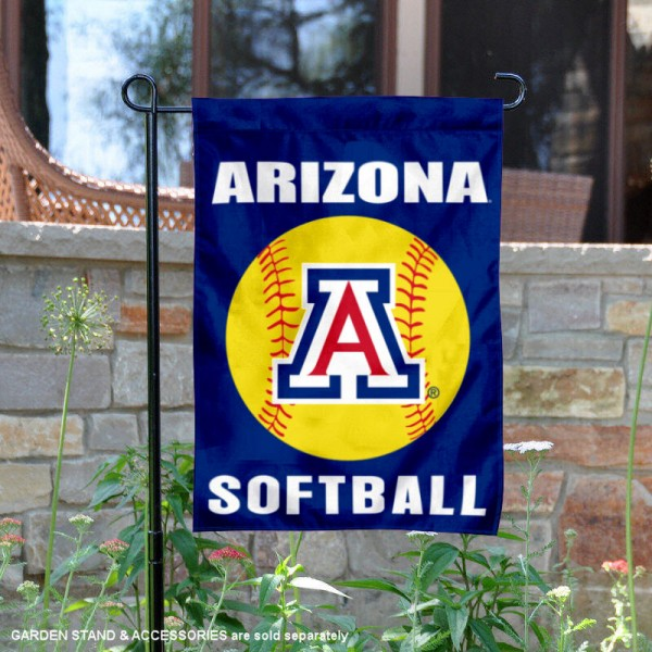 Arizona Wildcats Softball Garden Flag and Yard Banner is 13x18 inches in size, is made of 2-layer double sided with liner polyester, screen printed Arizona Wildcats athletic logos and lettering. Available with Same Day Express Shipping, Our Arizona Wildcats Softball Garden Flag and Yard Banner is officially licensed and approved by Arizona Wildcats and the NCAA.