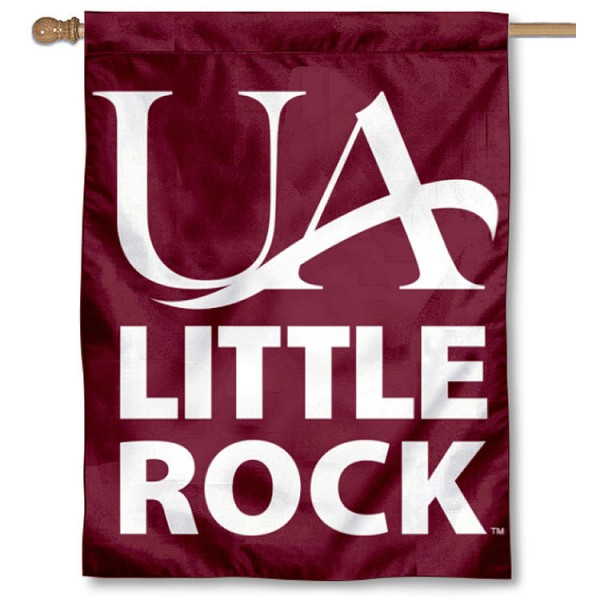 Arkansas Little Rock Trojans Double Sided House Flag is a vertical house flag which measures 30x40 inches, is made of 2 ply 100% polyester, offers screen printed NCAA team insignias, and has a top pole sleeve to hang vertically. Our Arkansas Little Rock Trojans Double Sided House Flag is officially licensed by the selected university and the NCAA.