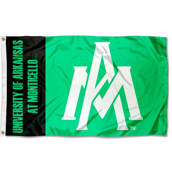 Arkansas Monticello Weevils Flag measures 3x5 feet, is made of 100% polyester, offers quadruple stitched flyends, has two metal grommets, and offers screen printed NCAA team logos and insignias. Our Arkansas Monticello Weevils Flag is officially licensed by the selected university and NCAA.