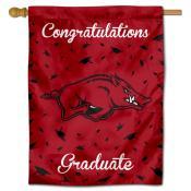 Arkansas Razorbacks Congratulations Graduate Flag