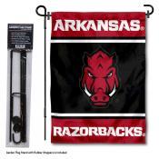 Arkansas Razorbacks Garden Flag and Pole Stand Holder