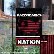 Arkansas Razorbacks Garden Flag with USA Country Stars and Stripes