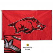 Arkansas Razorbacks Nylon Embroidered Flag