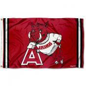 Arkansas Razorbacks Throwback Vault Logo Flag