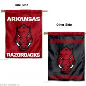 Arkansas Razorbacks Two Logo House Flag