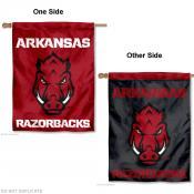 Arkansas Razorbacks Two Logo House Flag