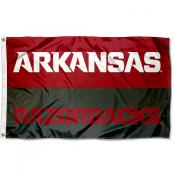 Arkansas Razorbacks Wordmark Flag