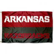Arkansas Razorbacks Wordmark Flag