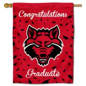Arkansas State Red Wolves Congratulations Graduate Flag