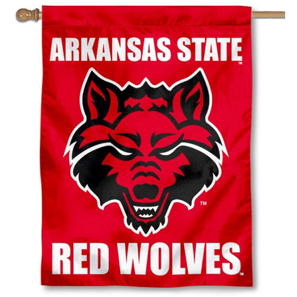 Arkansas State University Banner Flag is a vertical house flag which measures 30x40 inches, is made of 2 ply 100% polyester, offers dye sublimated NCAA team insignias, and has a top pole sleeve to hang vertically. Our Arkansas State University Banner Flag is officially licensed by the selected university and the NCAA.