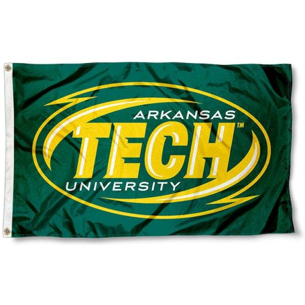 Arkansas Tech University Flag measures 3'x5', is made of 100% poly, has quadruple stitched sewing, two metal grommets, and has double sided Team University logos. Our ATU Wonder Boys 3x5 Flag is officially licensed by the selected university and the NCAA.
