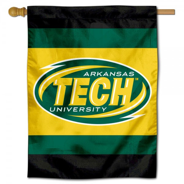 Arkansas Tech Wonder Boys Double Sided House Flag is a vertical house flag which measures 30x40 inches, is made of 2 ply 100% polyester, offers screen printed NCAA team insignias, and has a top pole sleeve to hang vertically. Our Arkansas Tech Wonder Boys Double Sided House Flag is officially licensed by the selected university and the NCAA.