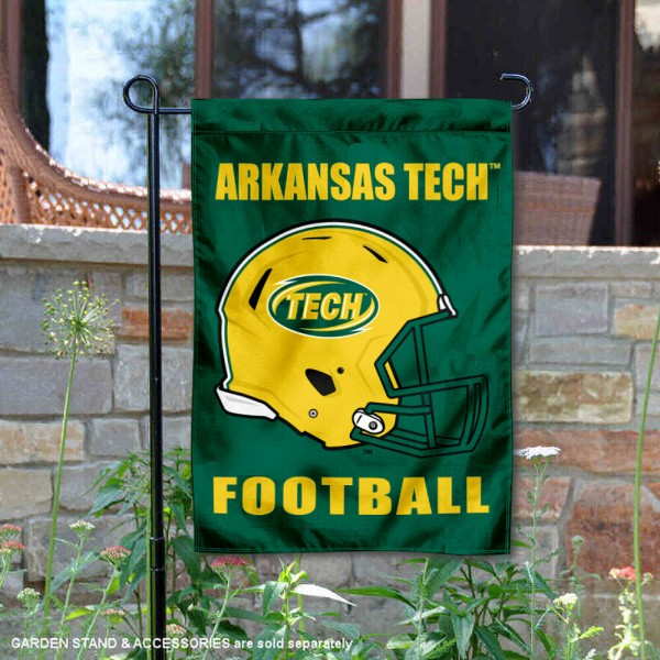 Arkansas Tech Wonder Boys Helmet Yard Garden Flag is 13x18 inches in size, is made of 2-layer polyester with Liner, screen printed university athletic logos and lettering, and is readable and viewable correctly on both sides. Available same day shipping, our Arkansas Tech Wonder Boys Helmet Yard Garden Flag is officially licensed and approved by the university and the NCAA.