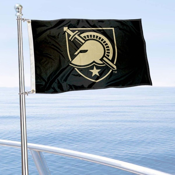 Army Black Knights Boat and Mini Flag is 12x18 inches, polyester, offers quadruple stitched flyends for durability, has two metal grommets, and is double sided. Our mini flags for Army Black Knights are licensed by the university and NCAA and can be used as a boat flag, motorcycle flag, golf cart flag, or ATV flag.