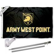 Army Black Knights Flag Pole and Bracket Kit