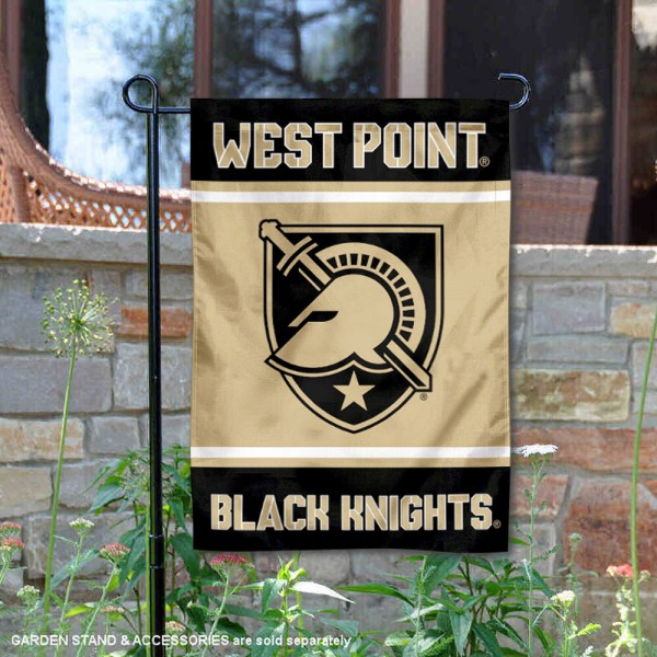 Army Black Knights Garden Flag is 13x18 inches in size, is made of 2-layer polyester, screen printed logos and lettering. Available with Same Day Express Shipping, Our Army Black Knights Garden Flag is officially licensed and approved by the NCAA.