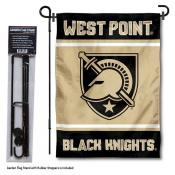 Army Black Knights Garden Flag and Pole Stand Holder
