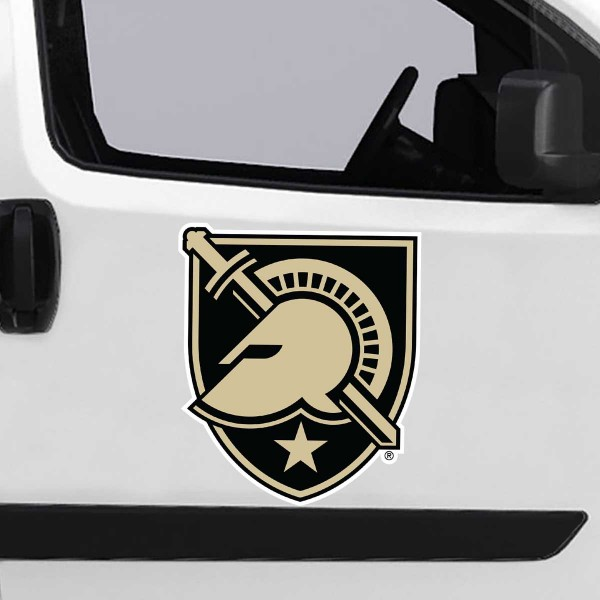 Army Black Knights Large Magnet is ideal for inside or outside uses, car and auto door panels, and a great gift idea. Each magnet is a large 16x16 inches, is made of flexible 20 mil magnetic vinyl and has screen printed school logos and team names and slogans.