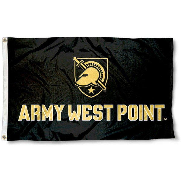 Army West Point Athena Shield Logo Flag measures 3'x5', is made of 100% poly, has quadruple stitched sewing, two metal grommets, and has double sided Team University logos. Our West Point Black Knights 3x5 Flag is officially licensed by the selected university and the NCAA.