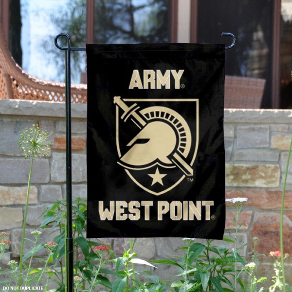 Army West Point Garden Flag is 13x18 inches in size, is made of 2-layer polyester, screen printed Army West Point Athena Shield athletic logos and lettering. Available with Same Day Express Shipping, Our Army West Point Garden Flag is officially licensed and approved by Army West Point Athena Shield and the NCAA.