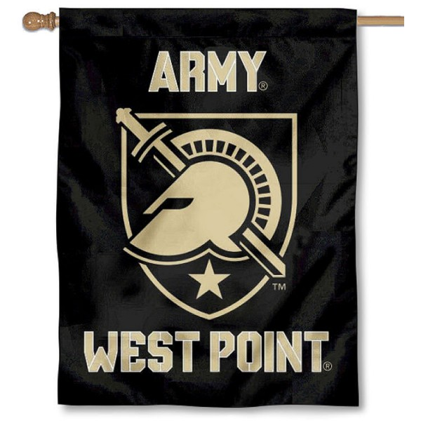 Army West Point House Banner is a vertical house flag which measures 30x40 inches, is made of 2 ply 100% polyester, offers screen printed NCAA team insignias, and has a top pole sleeve to hang vertically. Our Army West Point House Banner is officially licensed by the selected university and the NCAA.