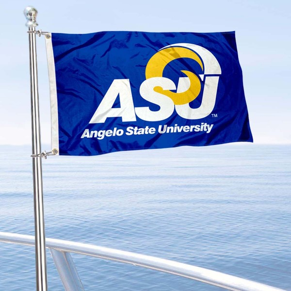 ASU Rams Boat and Mini Flag is 12x18 inches, polyester, offers quadruple stitched flyends for durability, has two metal grommets, and is double sided. Our mini flags for Angelo State University are licensed by the university and NCAA and can be used as a boat flag, motorcycle flag, golf cart flag, or ATV flag.