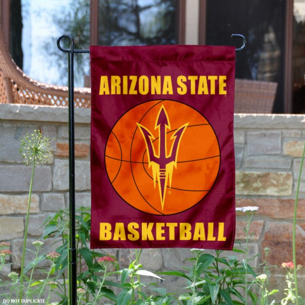 ASU Sun Devils Basketball Garden Banner is 13x18 inches in size, is made of 2-layer polyester, screen printed athletic logos and lettering. Available with Same Day Express Shipping, Our ASU Sun Devils Basketball Garden Banner is officially licensed and approved by the school and the NCAA.