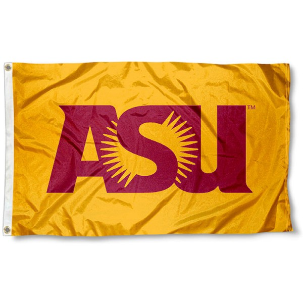 ASU Sun Devils Flag measures 3'x5', is made of 100% poly, has quadruple stitched sewing, two metal grommets, and has double sided ASU Sun Devils logos. Our ASU Sun Devils Flag is officially licensed by the selected university and the NCAA