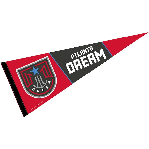 Atlanta Dream Pennant is our WNBA team pennant which measures 12x30 inches, is made of soft wool and felt blends, has a pennant sleeve, and is single sided screen printed. Our Atlanta Dream Pennant is perfect for showing your WNBA team allegiance in any room of the house and is WNBA officially licensed