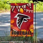 Atlanta Falcons Fall Football Leaves Decorative Double Sided Garden Flag