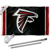 Atlanta Falcons Flag Pole and Bracket Kit