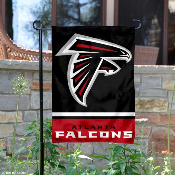 Atlanta Falcons Garden Flag is 12.5x18 inches in size, is made of 2-ply polyester, and has two sided screen printed logos and lettering. Available with Express Next Day Ship, our Atlanta Falcons Garden Flag is NFL Officially Licensed and is double sided.