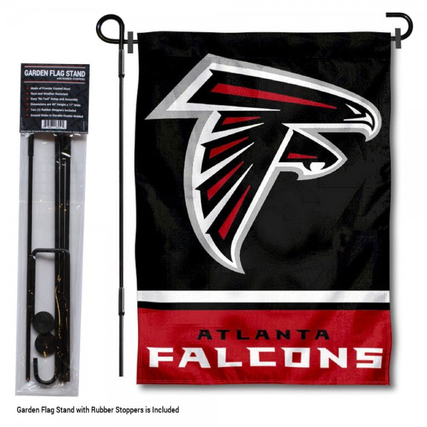 Atlanta Falcons Garden Flag and Stand