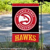 Atlanta Hawks Black Double Sided Garden Flag