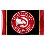 Atlanta Hawks Black Logo 3x5 Flag