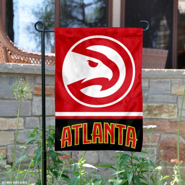 Atlanta Hawks Garden Flag is 12.5x18 inches in size, is made of 2-ply polyester, and has two sided screen printed logos and lettering. Available with Express Next Day Shipping, our Atlanta Hawks Garden Flag is NBA Genuine Merchandise and is double sided.