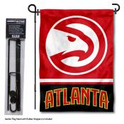 Atlanta Hawks Garden Flag and Flagpole Stand